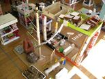 1ヶ月くらい作り続けた幼稚園!楽しすぎて、遊びながらずっと作り続けていました。