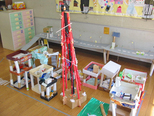 東京タワー 町のまん中に東京タワーがあるよ!